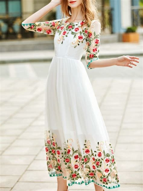 Flowers Embroidery Dress best 25 embroidered dresses ideas on calypso