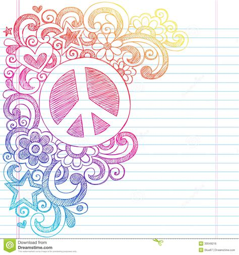 sketch book for blank paper for drawing doodling or sketching 100 large blank pages 8 5x11 for sketching books peace sign sketchy doodles back to school vector i royalty