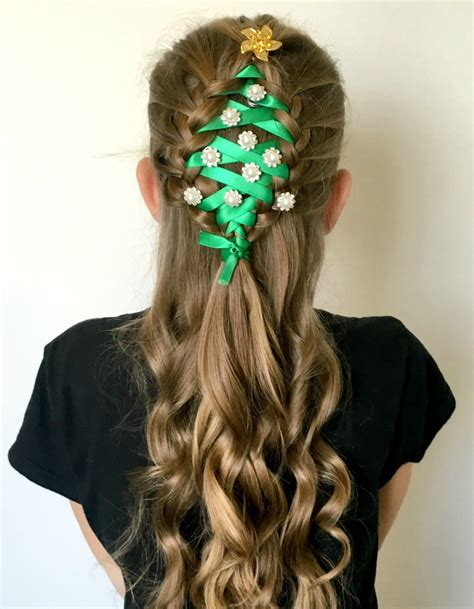 christmas tree hairstyle tree braid oh my creative