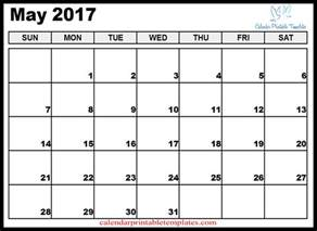 May Calendar Word May Calendar Printable Template Pdf Uk Usa Canada 2017