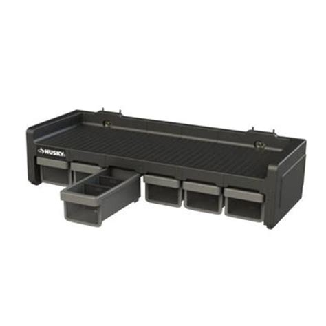 husky 6 compartment small parts shelf organizer 222569