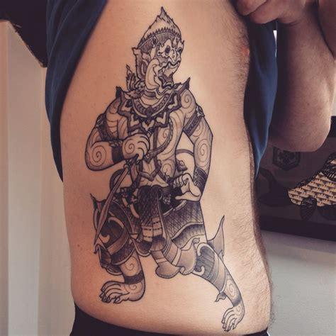 thailand tattoo history thai hanuman done at seven swords studio cheltenham uk