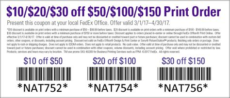Fedex Office Coupon by Special Offer Color Printing Fedex Office