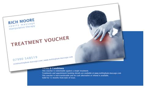 printable vouchers nottingham sports massage gift vouchers nottingham massage