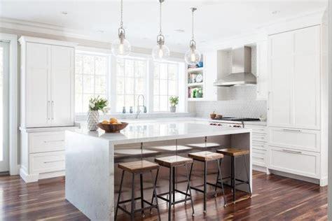 threshold kitchen island white wood and iron barstools transitional kitchen