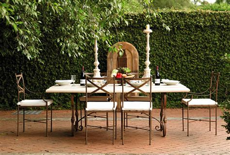 outdoor stone tables chairs yardware