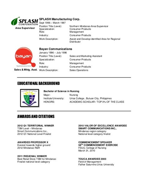 Sle Resume For College Instructor Philippines sle resume for college students philippines map 100