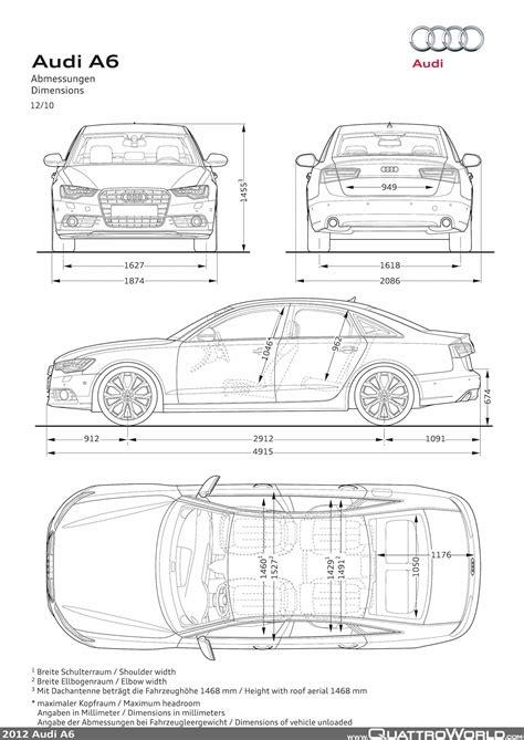 Audi A6 Abmessungen by Audi A6 Abmessungen Quattroworld