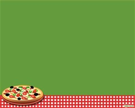 Free Pizza Powerpoint For Food Presentations And Green Background Theme Lifestyle Powerpoint Pizza Powerpoint Template