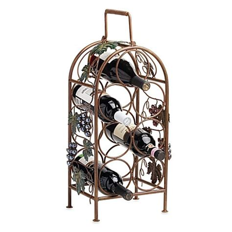 wine rack bed bath and beyond buy cascade vineyard 7 bottle wine rack from bed bath beyond