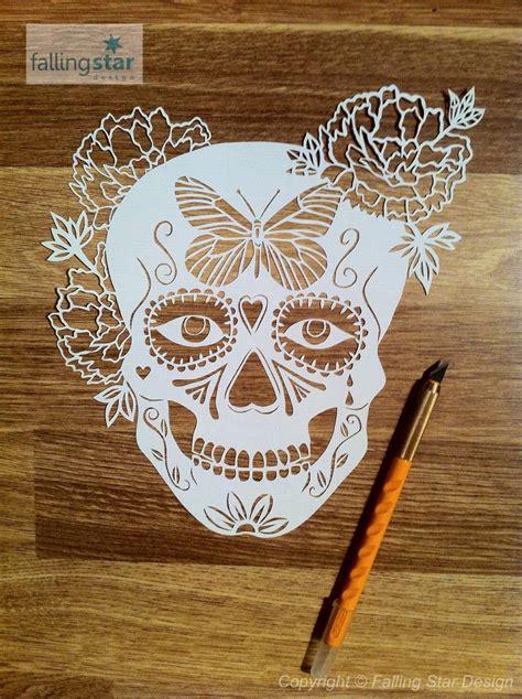 Sale Halloween Special Butterfly Sugar Skull Papercutting Laser Cut Skull Template