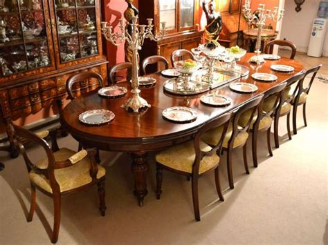 antique ft victorian dining table  chairs  image