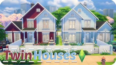 4 family homes sims 4 speed build twin houses traditional family homes