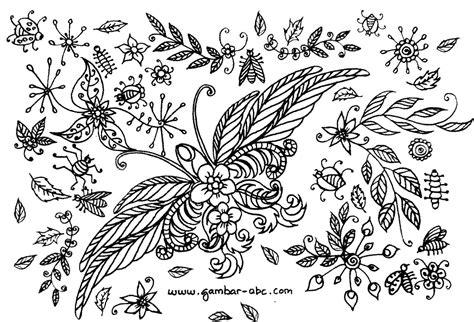 trendy banget batik motif bunga hitam putih