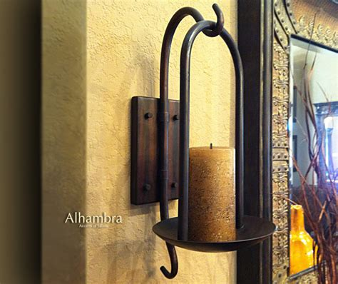 Iron Candle Wall Sconce Tuscan Decor Tuscan Alhambra Iron Wall Sconce Candle Holder