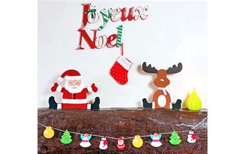 Deco Pere Noel by D 233 Co Joyeux No 235 L 233 Lan Et P 232 Re No 235 L En Bois La Deco De