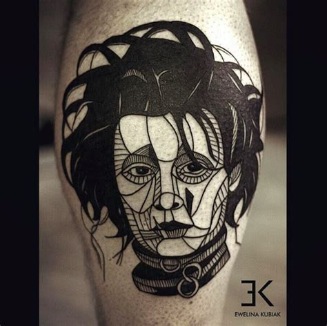 beautifully bold and abstract blackwork tattoos of people