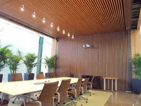 Wood Slat Ceiling Interior Vertical Wood Slats Wall Search Office