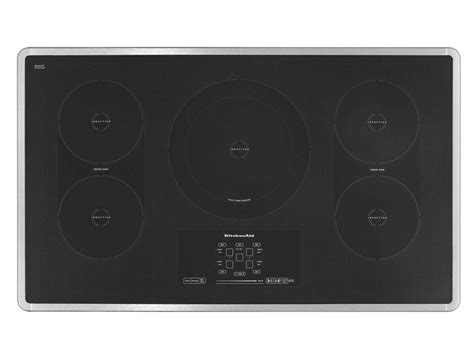 kitchen aid induction cooktop kitchenaid kicu569xbl 36 quot induction cooktop with 5