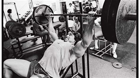 schwarzenegger bench press arnold schwarzenegger s ultimate training guide muscle