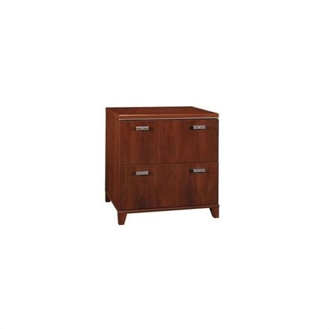 Bush Tuxedo 2 Drawer Lateral File Cabinet In Hansen Cherry Bush Lateral File Cabinet