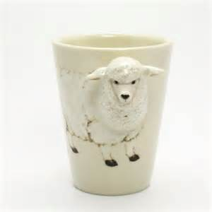 white ceramic home decor white sheep ceramic mug coffee cup home decor collectible