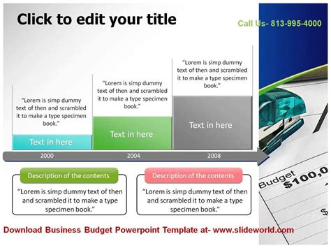 Business Budget Powerpoint Templates Youtube Powerpoint Budget Template