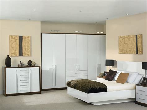 white fitted bedroom furniture bella venice high gloss white dark walnut fitted bedroom