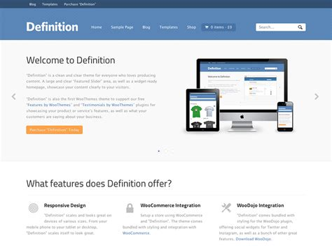 Definition Of A by Definition Woothemes