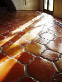 Floor In Spanish Terra Cotta Tile Or Saltillo Tile Is Saltillo Tile And