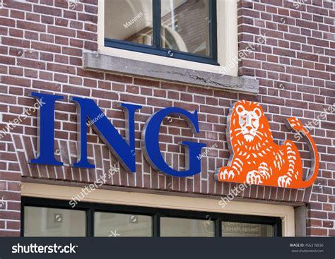 ing bank berlin alkmaar netherlands 2 july 2016 blue stock photo 456218836