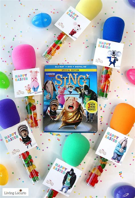 Beach Kitchen Ideas candy microphone party favors sing movie tags