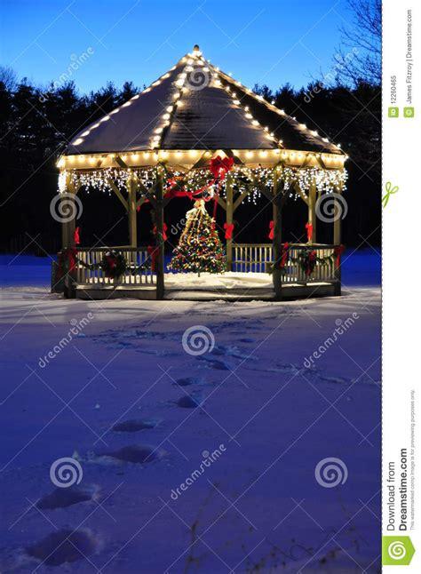 christmas gazebo royalty  stock photo image