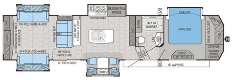 jayco 5th wheel floor plans 2016 designer luxury fifth wheel floorplans prices