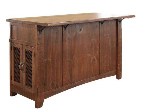 Kitchen Furniture Direct International Furniture Direct Pueblo Ifd359island Kitchen Island With Sliding Doors Dunk