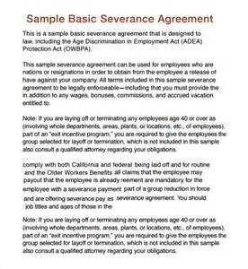 severance agreement template severance agreement 6 free pdf doc sle