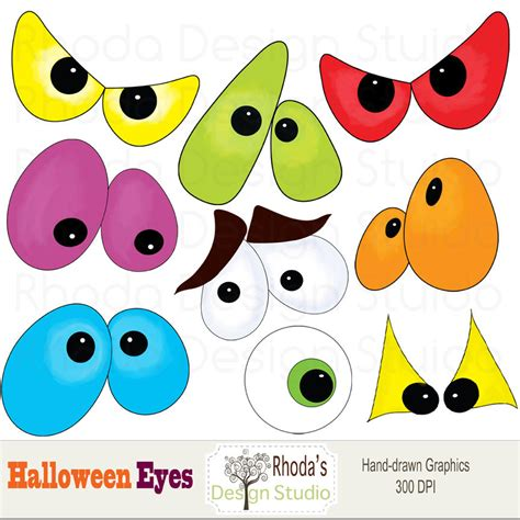 printable scary halloween eyes spooky clipart printable pencil and in color spooky
