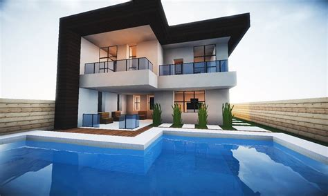 casas modernas minecraft tutorial pequena casa moderna 202