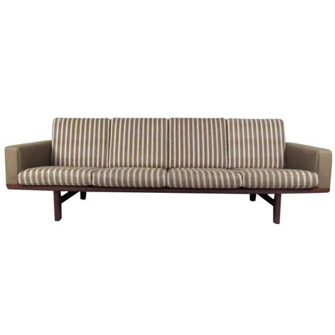 hans wegner 236 sofa mid century ge 236 4 sofa attributed to hans wegner for