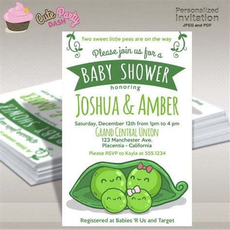 Pea In A Pod Baby Shower by Two Peas In A Pod Baby Shower Ideas Baby Ideas