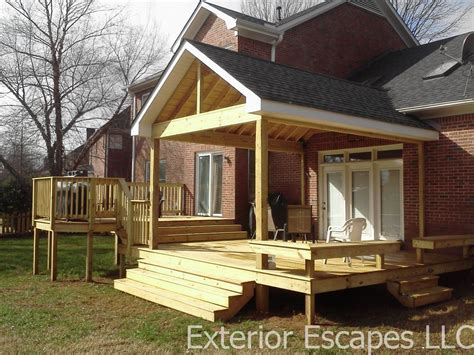 covered porch pictures screen porch exterior escapes llc