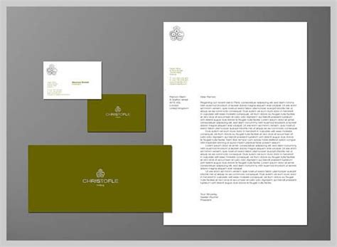 great business letterhead company letterhead design christofle personal identity