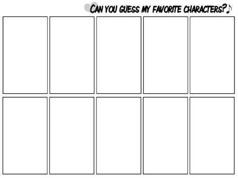 Jam Guess Blang Blank meme can you guess my favorite characters by mossygator on deviantart