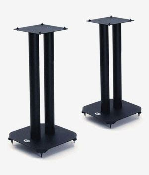 b tech bt606 60cm atlas bookshelf speaker stands black