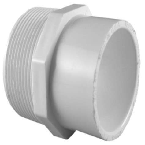 pipe 1 1 2 in x 2 in pvc sch 40 mpt x s