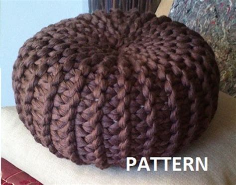 Pouf Ottoman Pattern by 18 Knit Pouf Patterns Guide Patterns