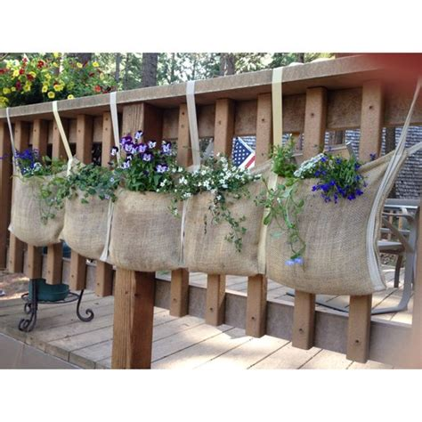 rail hanging planters hanging fabric deck railings and planters on