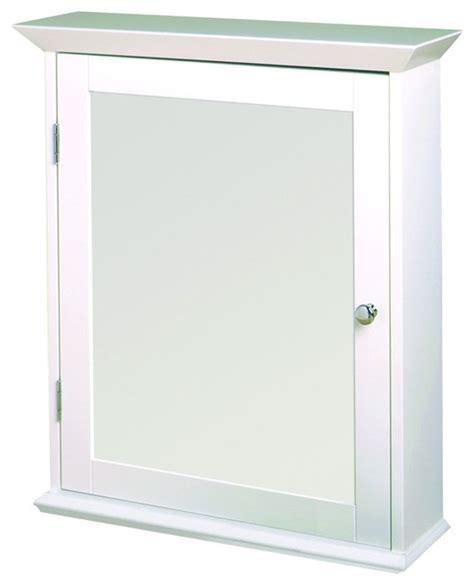 zenith ww2026 classic white swing door medicine cabinet