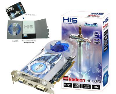 Vga Card Hd 5570 1gb Ddr3 128 Bit his 5670 iceq 1gb ddr3 pci e dvi hdmi vga