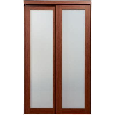 nuporte cherry 1 lite bi pass closet doors home depot